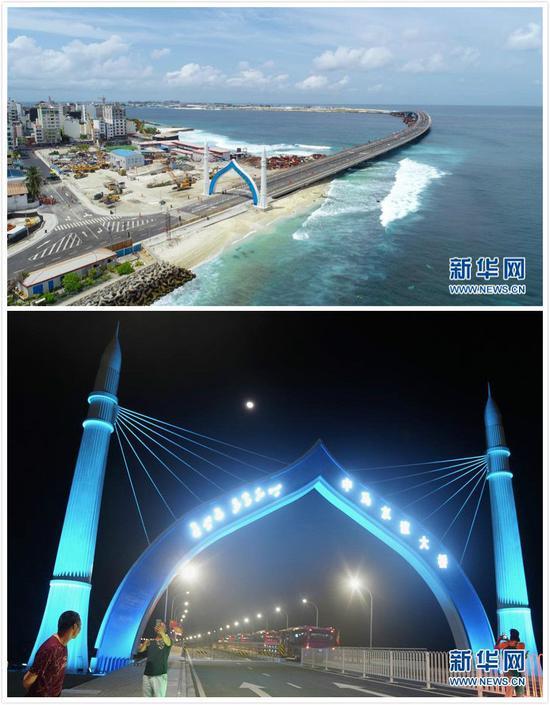 (中马友谊大桥开通。)