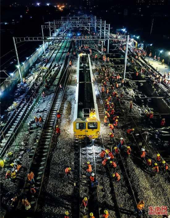 并没有9小时凭空建出个火车站… 图源:东南网