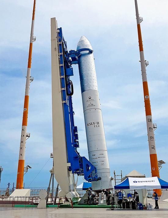 """KSLV-2火箭運力較此前發射的""""羅老""""號火箭有大幅提高。"""
