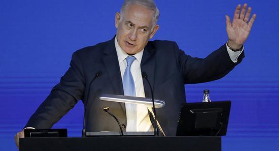 图为以色列总理内塔尼亚胡。(美联社)