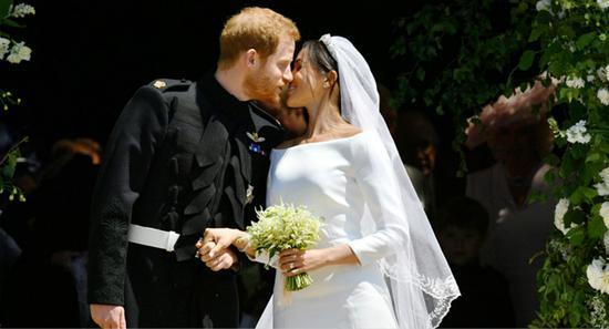 哈里王子与梅根于当地时间19日举行婚礼。(图片来源:路透社)