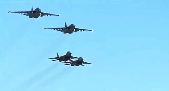 ▲圖?駐敘俄軍航空部隊與敘航空部隊協同作戰