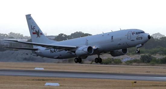 資料圖片:P-8A起飛資料圖。(圖片來源於網絡)