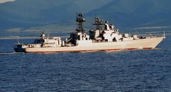圖爲俄海軍太平洋艦隊艦艇
