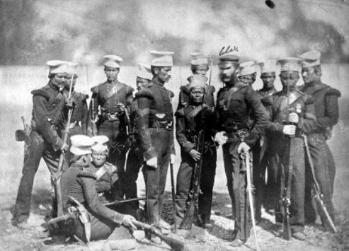 1896年的廓尔喀士兵。