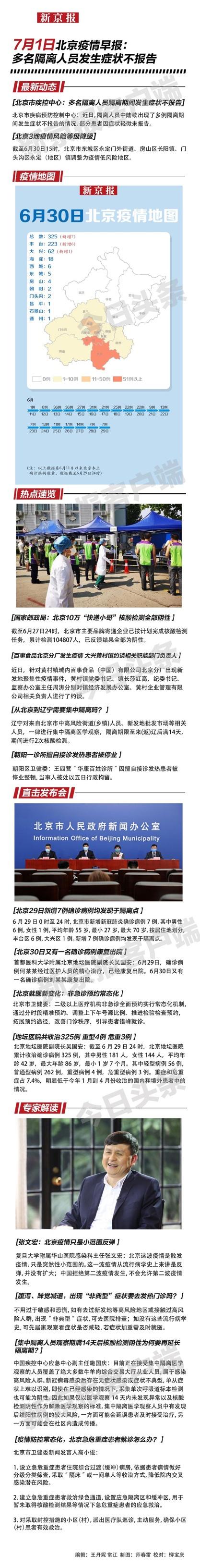 7月1日北京疫情早报图片