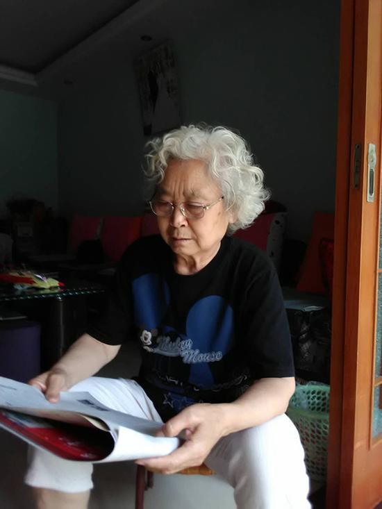78岁的三台求职老太丁玉琼。 受访者供图