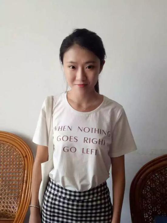▲大学时期的陈姬丹 (小姐姐美美哒)