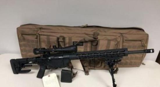 孙某所购步枪。中国侨网 图