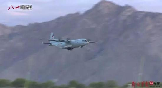 ▲陕西运-9运输机在一处高海拔机场起降。(中国军网)
