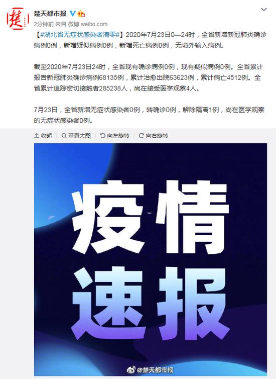 「赢咖3」湖北省无症状感染者清零赢咖3图片