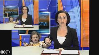 俄女主播直播被女儿打断:妈妈 有短信