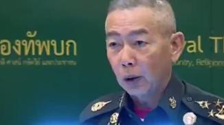 泰国陆军总司令含泪为军人枪击案致歉