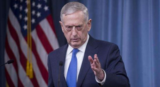 资料图片:美国防部长马蒂斯。(图片来源于网络)