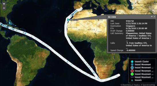 ▲RB Eden航迹图