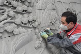 磚上的雕畫技藝