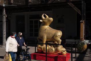 牛雕像現身舊金山