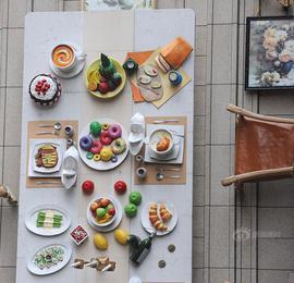 食欲大发!超大餐桌挂上外墙