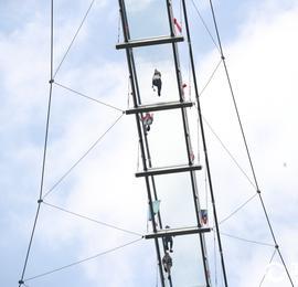 60层楼高!浙江临安透明高空玻璃观景桥成旅游打卡新网红