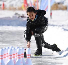 """新疆天池景区推出""""冰封雪湖""""冰上项目"""