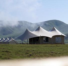 """甘肃藏地秘境""""帐篷城""""迎客 原始与现代的藏家风情"""