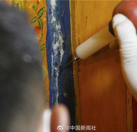 西藏世界文化遗产壁画获修复 再寻百年瑰丽容颜