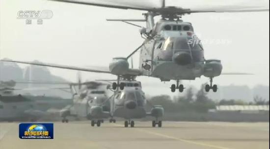 海军航空兵直-8直升机