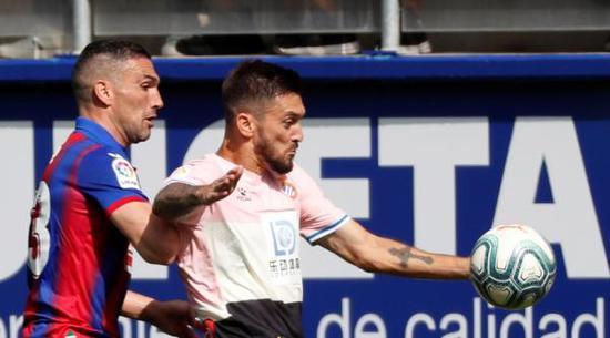 西班牙人2比1得到尾胜,武磊已进场