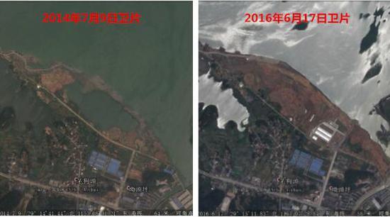 滨湖新城填湖情况卫片影像