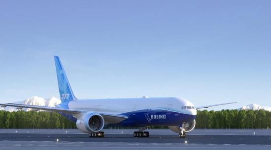 (波音777X客机 图片来源:波音公司官方推特)