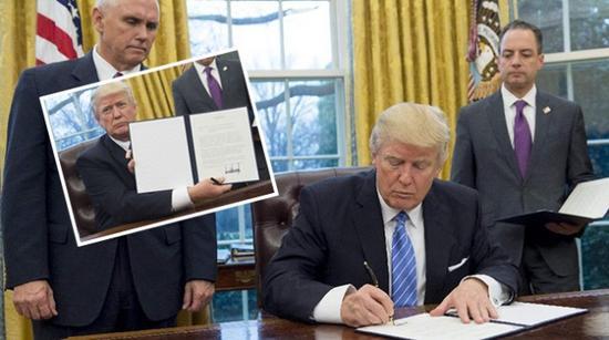 特朗普上台一周就带领美国退出TPP