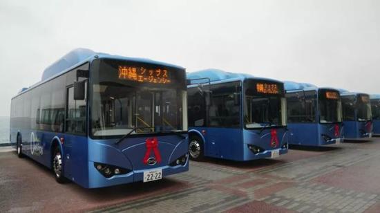 出口到日本冲绳的比亚迪K9电动客车