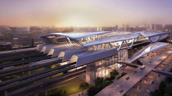 新隆高铁车站概念图