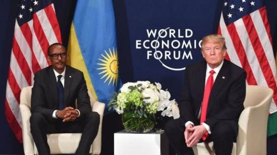 2018年1月,美国总统特朗普会见卢旺达总统保罗·卡加梅时显得并不热络。