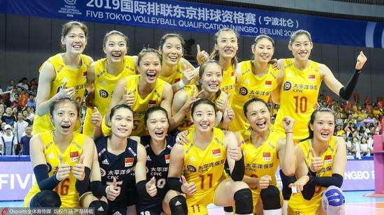 中國女排此前已獲得東京奧運會資格。圖/Osports