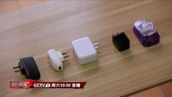 通过检测,五款充电器在不连接手机的情况下,其中有三款显示出来有电流读数。