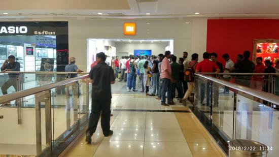 小米、OPPO、vivo等中国手机、电视产品在印度受到热烈追捧。