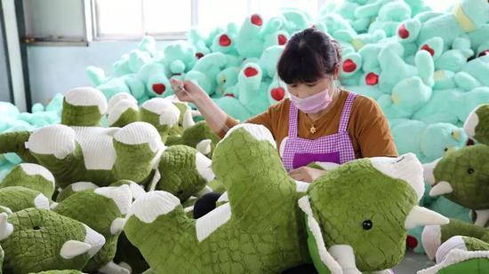 ▲全球70%的玩具由中国生产。(法新社)