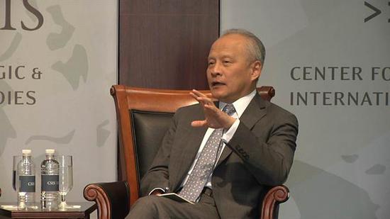 中国驻美大使崔天凯(图片来源:《中国时报》)