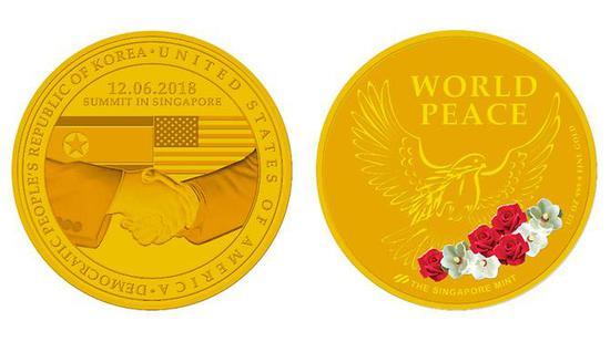 金色纪念章