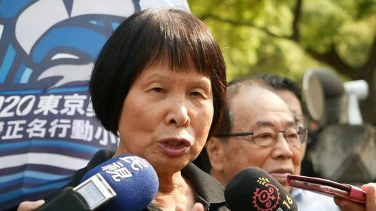 """纪政牵头推动""""2020东京奥运台湾正名公投""""联署(图源台媒)"""