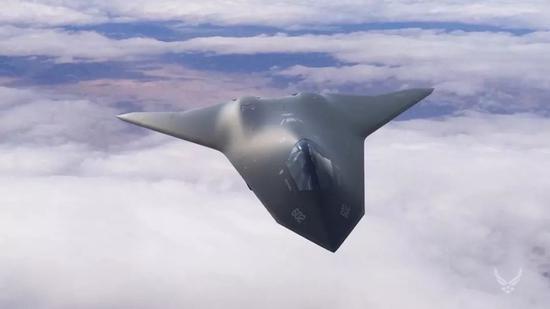 ▲美国空军2030年宣传片中公开的六代机设想图。