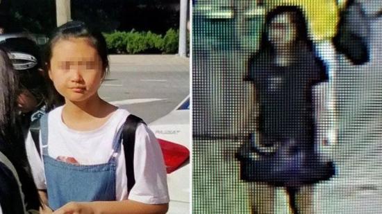 左为警方所称失踪中国女孩,右为嫌疑人