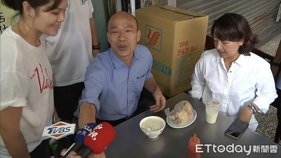 """高雄市長韓國瑜。(圖片來源:臺灣""""東森新聞云"""")"""