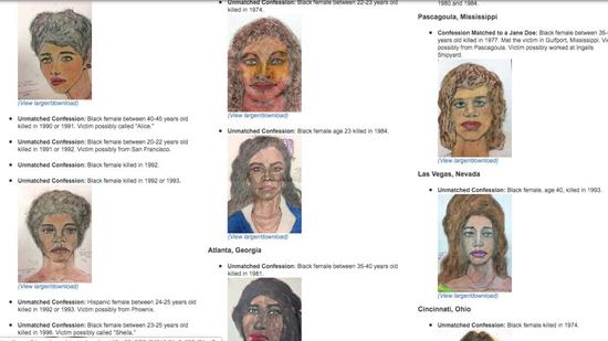 ▲FBI網站公佈受害者手繪照片