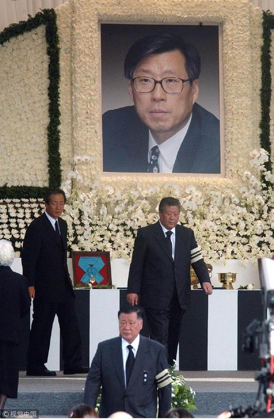郑梦宪的葬礼现场(视觉中国)