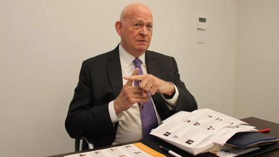 哈德逊研究所中国战略中心主任白邦瑞。摄:邢晓婧