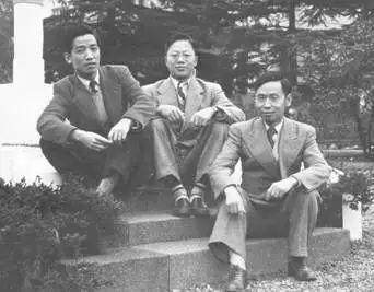 1950年11月,沈善炯、罗时钧、赵忠尧(自左至右)于日本蒙难释放后留影