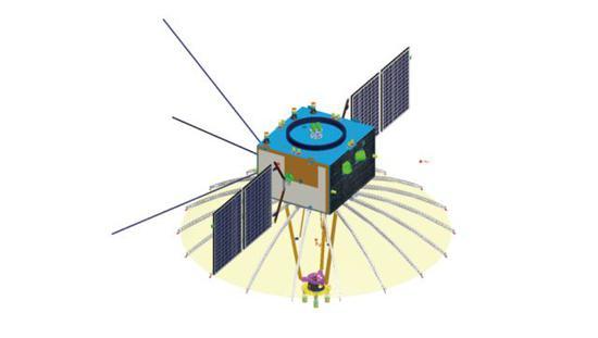 嫦娥四号信号中继卫星带有一个口径4.2米的伞面天线 (图片来源于吴伟仁等,详见注1)