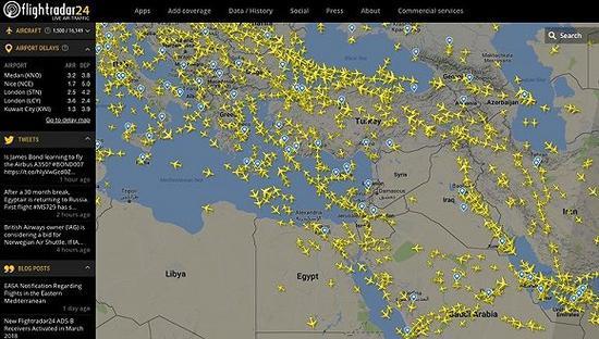 图片来源:Flightradar24